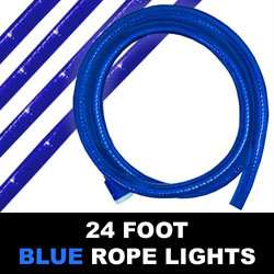 Blue Rope Lights 24 Foot