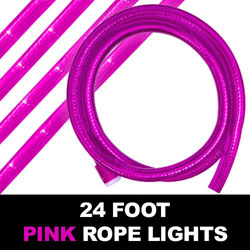 Sakura Pink Rope Lights 24 Foot