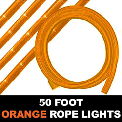 Orange Rope Lights 50 Foot