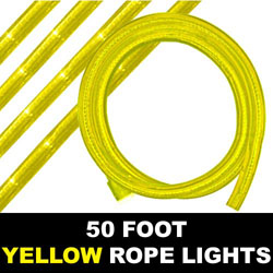 Yellow Rope Lights 50 Foot
