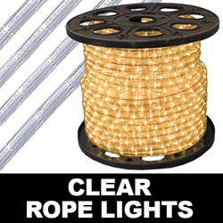 150 Foot Clear Rope Lights 4 Inch Segments