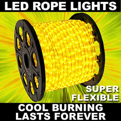153 Foot Gold LED Rope Lights