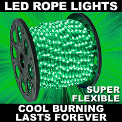 150 Foot Emerald Green LED Rope Lights