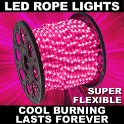150 Foot Pink LED Rope Lights