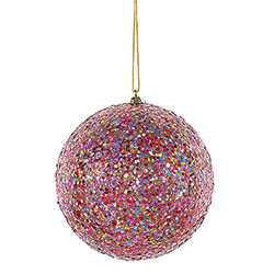 6 Inch Multi Color Sequin Glitter Christmas Ball Ornament
