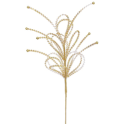Gold Sequin Loop Decorative Artificial Wedding Spray Set of 12