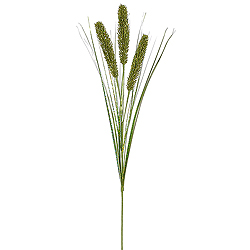 Lime Green Glitter Wheat Onion Grass Decorative Artificial Christmas Spray Set of 12