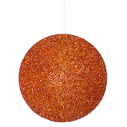 8 Inch Copper Beaded Sequin Round Ornament