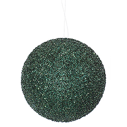 8 Inch Emerald Beaded Sequin Round Ornament