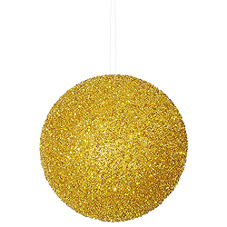 8 Inch Antique Gold Beaded Sequin Round Ornament
