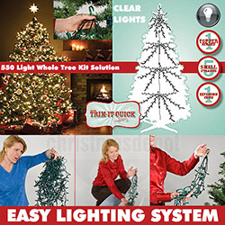 550 Clear Christmas Tree Lights For A Standard Christmas Tree
