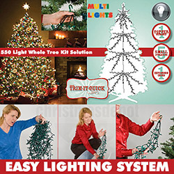 550 Multi Christmas Tree Lights For A Standard Christmas Tree