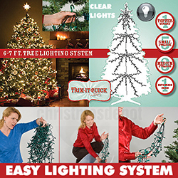 1000 Clear Christmas Tree Lights For A 6 To 7 Foot Christmas Tree