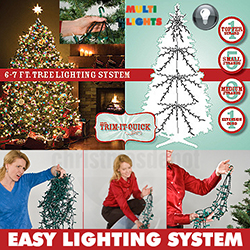 1000 Multi Christmas Tree Lights For A 6 To 7 Foot Christmas Tree