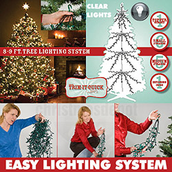 1400 Clear Christmas Tree Lights For An 8 To 9 Foot Christmas Tree
