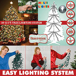 1950 Multi Christmas Tree Lights For A 10 To 12 Foot Christmas Tree
