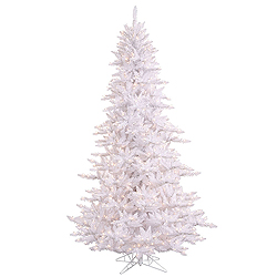 14 Foot White Fir Artificial Christmas Tree 2250 Clear Lights