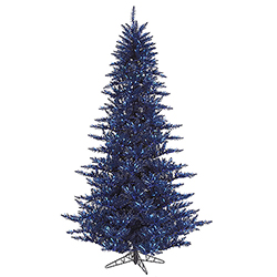 4.5 Foot Dark Blue Artificial Christmas Tree 250 Blue Lights