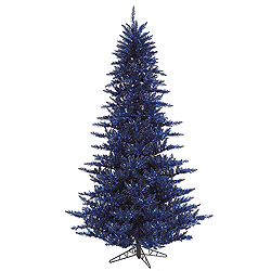 6.5 Foot Navy Blue Fir Artificial Christmas Tree Unlit