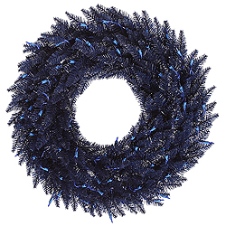 60 Inch Navy Blue Fir Wreath