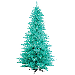 14 Foot Aqua Fir Artificial Christmas Tree 2250 Aqua Lights