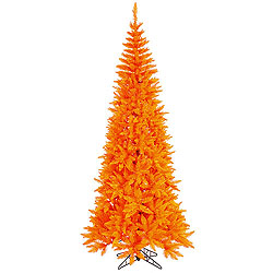 9 Foot Orange Slim Fir Artificial Christmas Tree