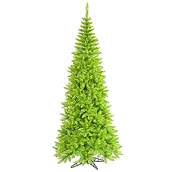 10 Foot Lime Slim Fir Artificial Halloween Tree 900 Lime Lights
