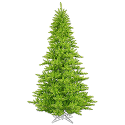 12 Foot Lime Artificial Halloween Tree 1650 Lime Lights
