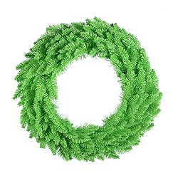 60 Inch Lime Artificial Halloween Wreath 200 Lime Lights