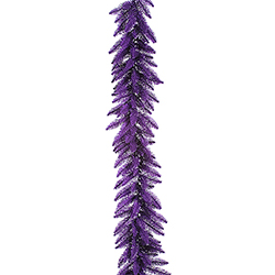 9 Foot Purple Garland 100 Purple Lights