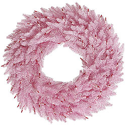 24 Inch Pink Fir Wreath