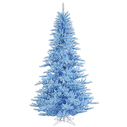 12 Foot Sky Blue Artificial Christmas Tree 1650 Blue Lights