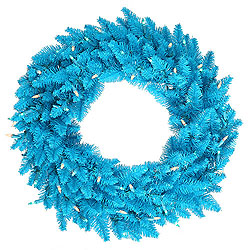 24 Inch Sky Blue Fir Wreath