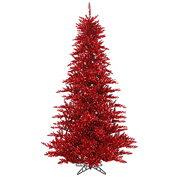 10 Foot Tinsel Red Fir Artificial Christmas Tree