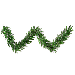 9 Foot Tinsel Green Fir Garland