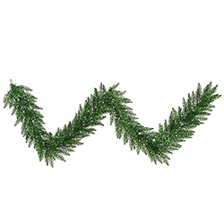 9 Foot Tinsel Green Garland 100 Green Lights