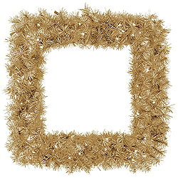 30 Inch Champagne Fir Square Wreath 70 Clear Lights