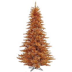9 Foot Copper Artificial Christmas Tree 1000 Clear Lights