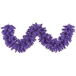 9 Foot Flocked Purple Fir Garland