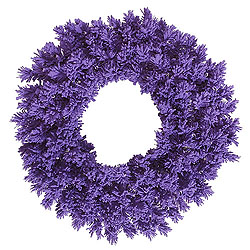 30 Inch Flocked Purple Fir Wreath
