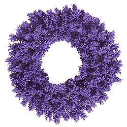 36 Inch Flocked Purple Fir Wreath
