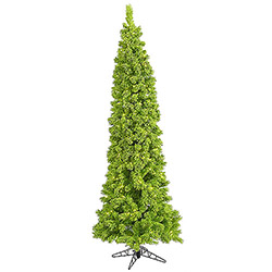 7.5 Foot Flocked Lime Artificial Christmas Tree 300 Lime Lights