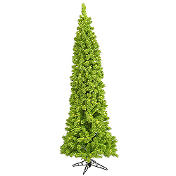 7.5 Foot Flocked Lime Fir Artificial Christmas Tree 450 Lime Lights