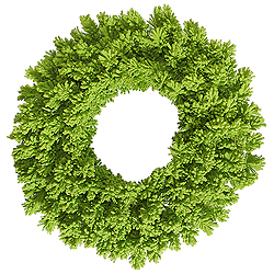 24 Inch Flocked Lime Fir Wreath
