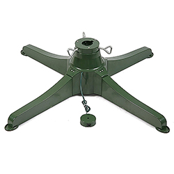 Electric Rotating Tree Stand Green