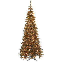 5.5 Foot Antique Champagne Fir Artificial Christmas Tree 300 Clear Lights