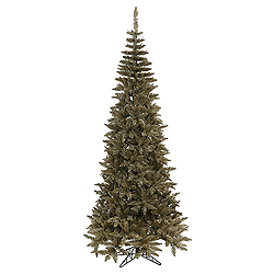 7.5 Foot Antique Champagne Fir Artificial Christmas Tree Unlit