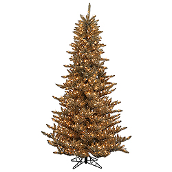 4.5 Foot Antique Champagne Fir Artificial Christmas Tree 250 Clear Lights