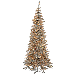 5.5 Foot Grey Fir Artificial Christmas Tree 300 Clear Lights