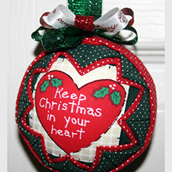 3 Inch Keep Christmas In Your Heart Ornament